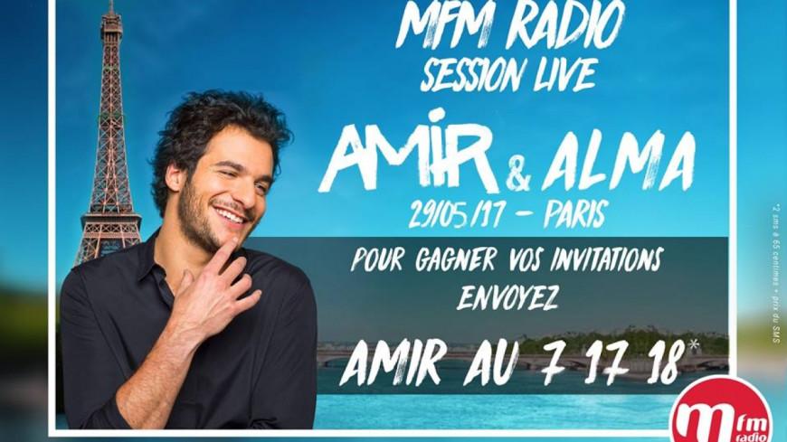 Amir et Alma en concert privé avec MFM Radio